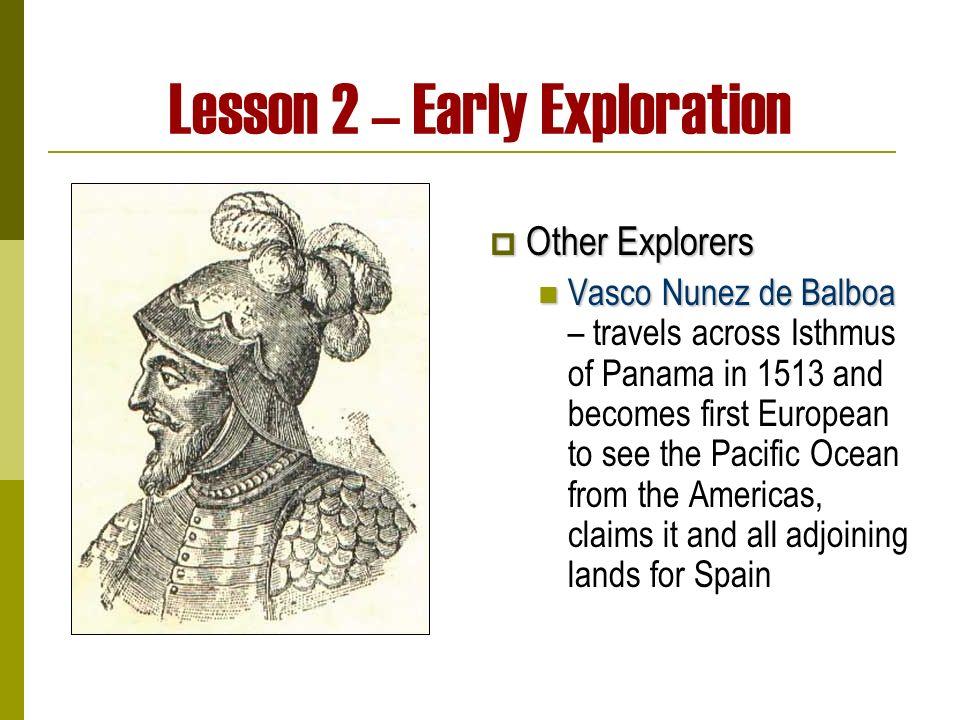 Lesson 2 – Early Exploration