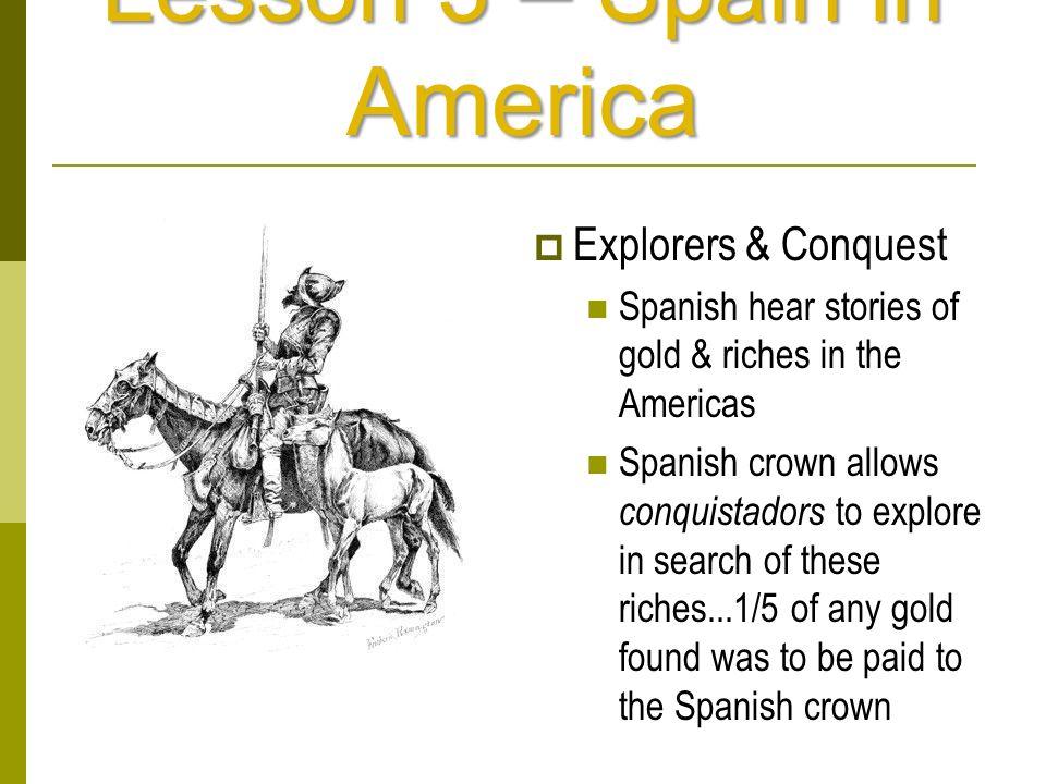 Lesson 3 – Spain in America