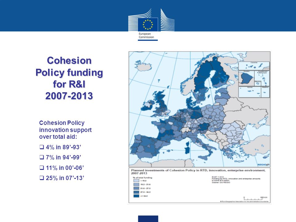 Cohesion Policy funding for R&I