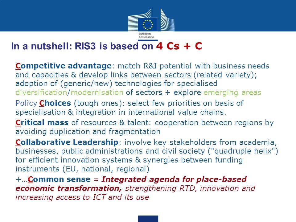 In a nutshell: RIS3 is based on 4 Cs + C