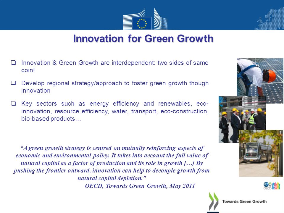 Innovation for Green Growth OECD, Towards Green Growth, May 2011