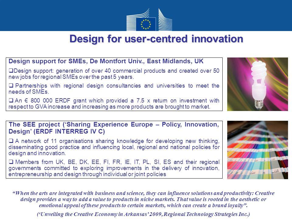 Design for user-centred innovation