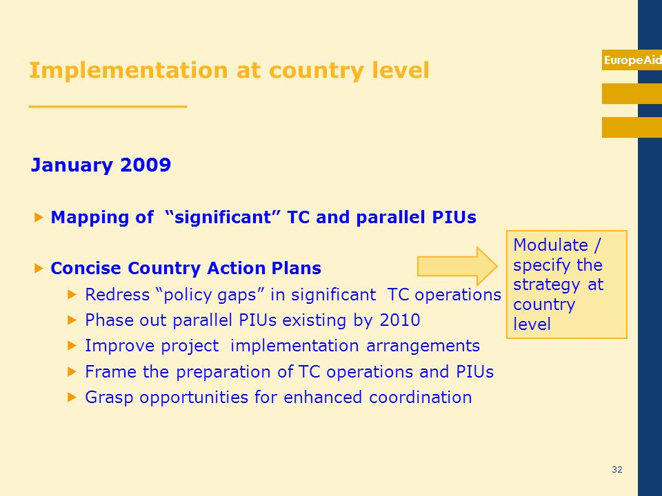 Axis 5: Implementation / monitoring of the strategy __________