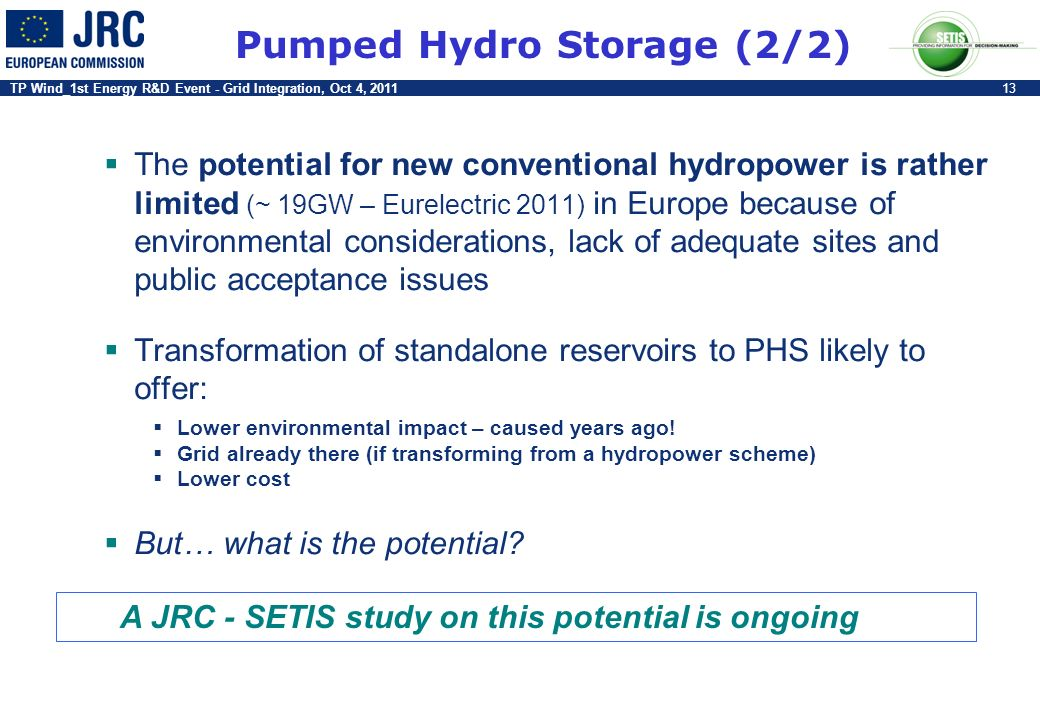 Pumped Hydro Storage (2/2)