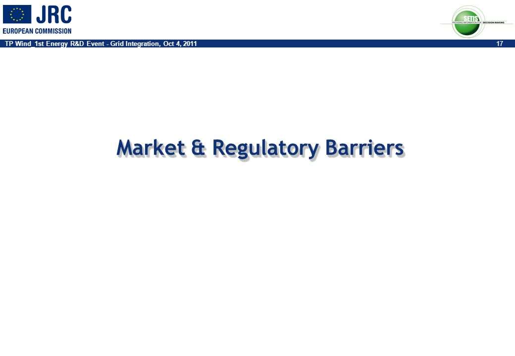 Market & Regulatory Barriers