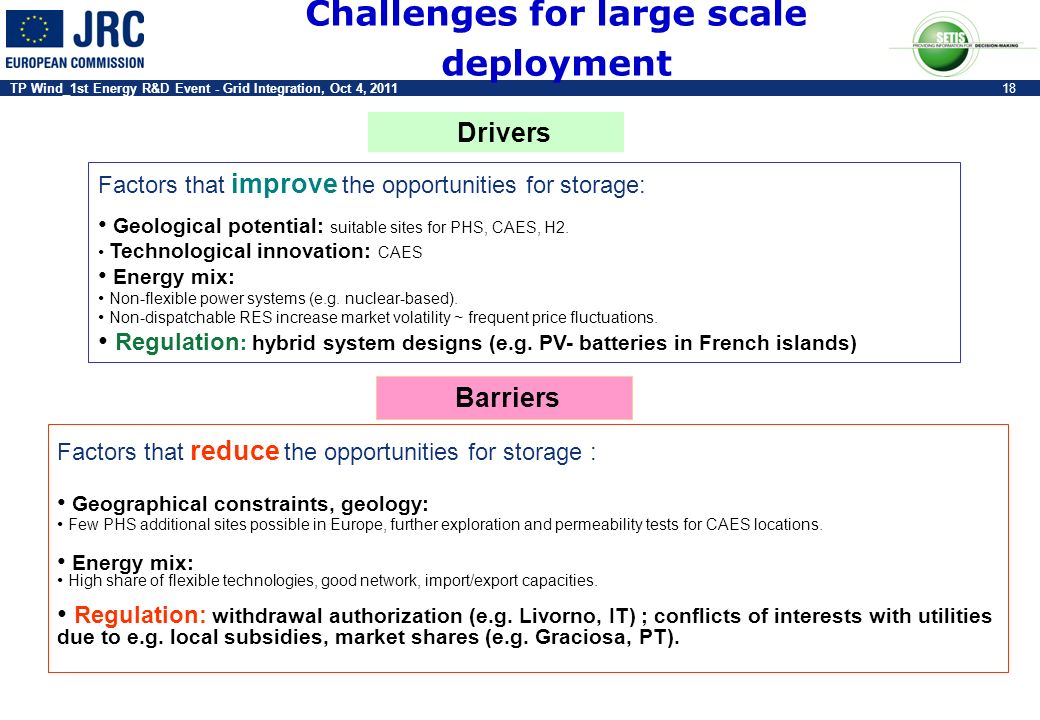 Challenges for large scale