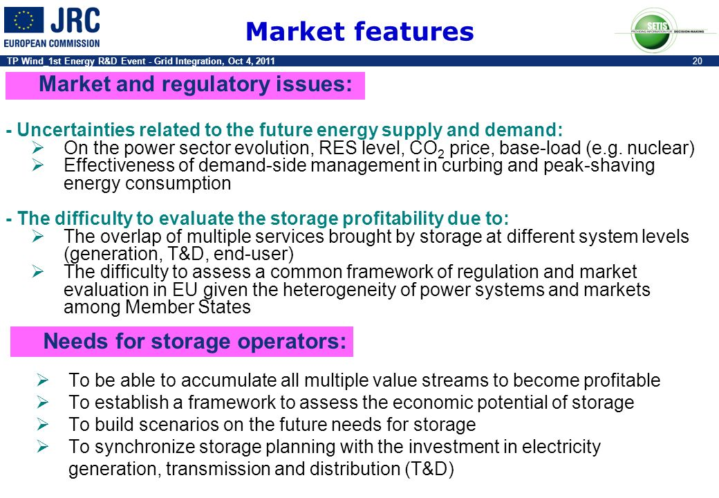 Market features Market and regulatory issues: