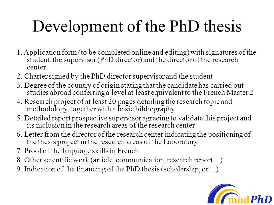 phd candidate thesis