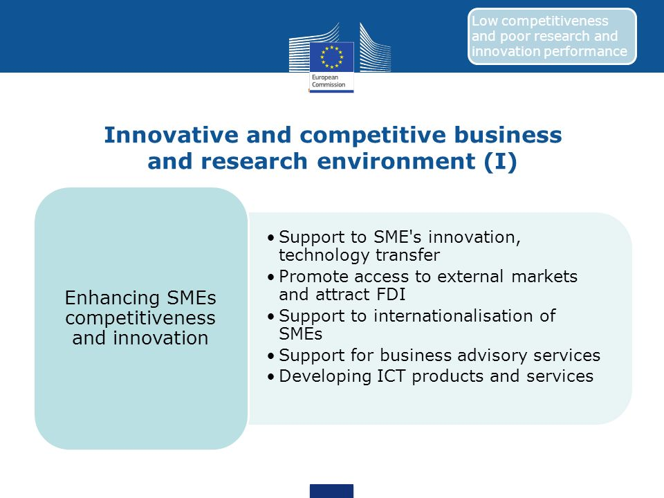 Innovative and competitive business and research environment (I)