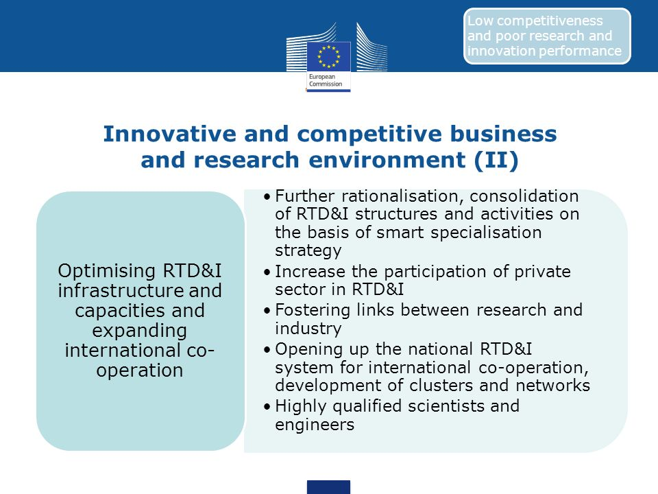 Innovative and competitive business and research environment (II)