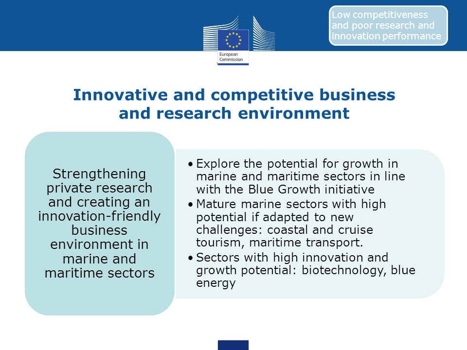 Innovative and competitive business and research environment