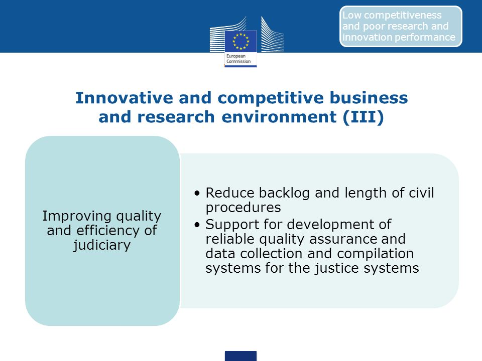 Innovative and competitive business and research environment (III)