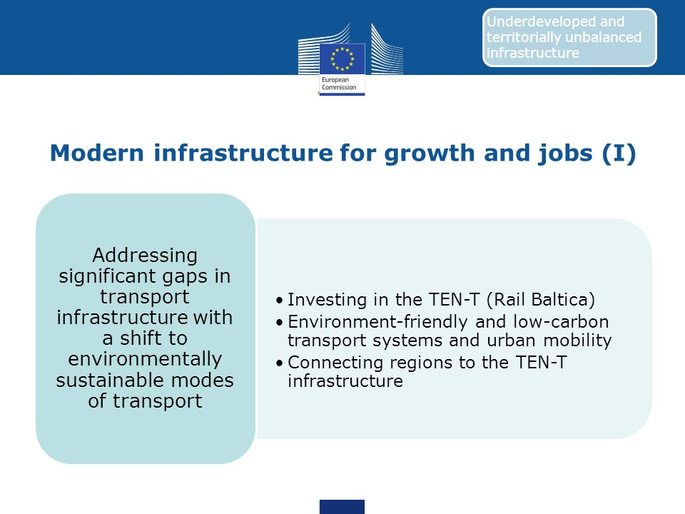 Modern infrastructure for growth and jobs (I)