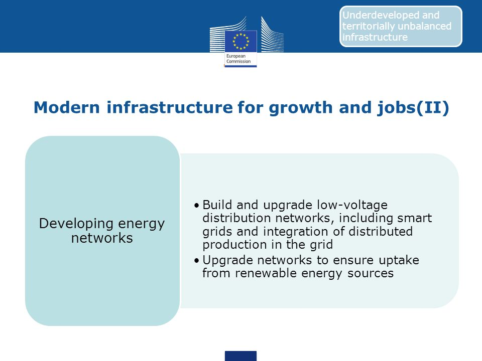 Modern infrastructure for growth and jobs(II)