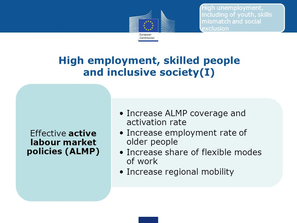 High employment, skilled people and inclusive society(I)
