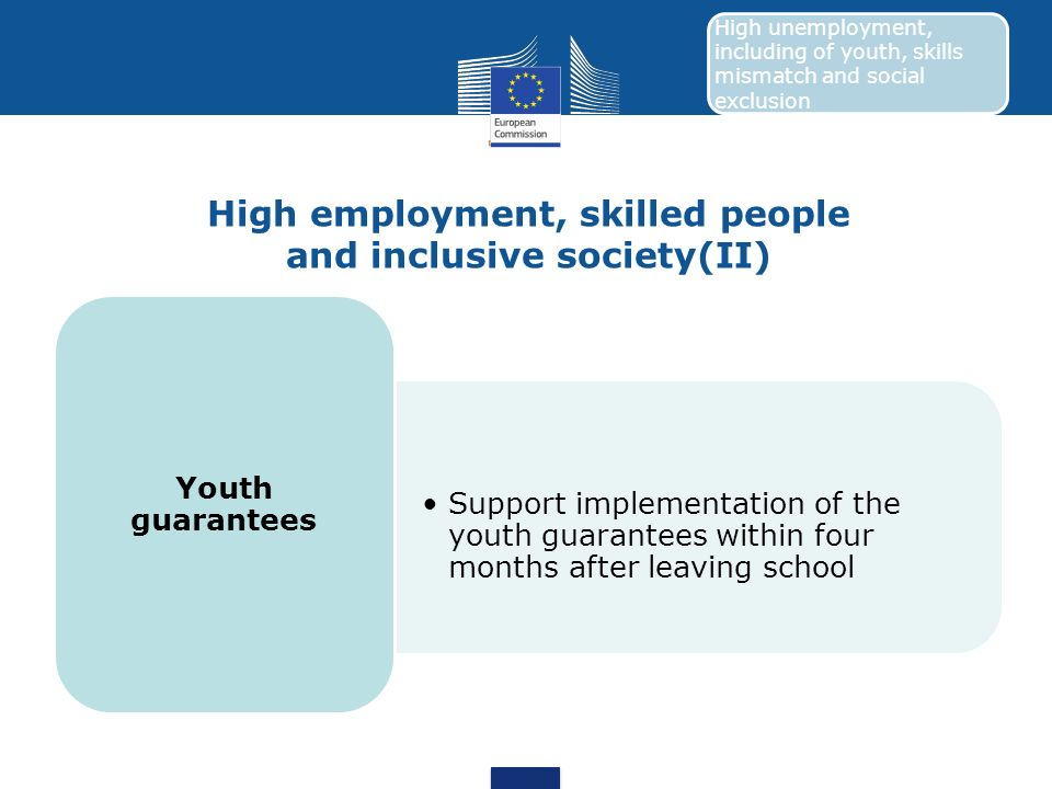 High employment, skilled people and inclusive society(II)