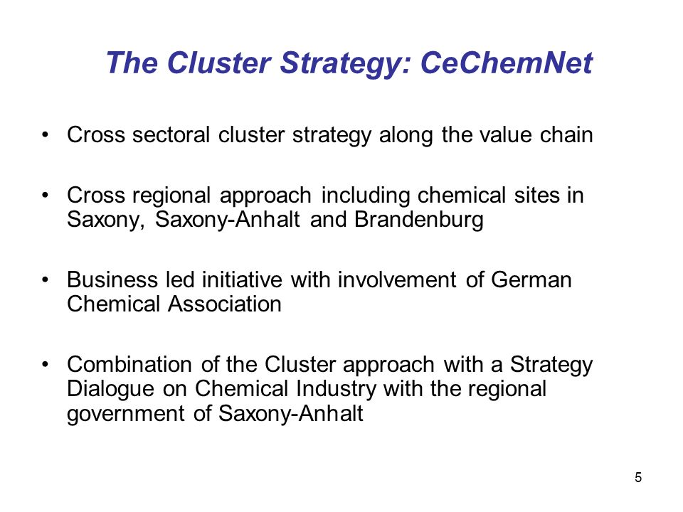 The Cluster Strategy: CeChemNet