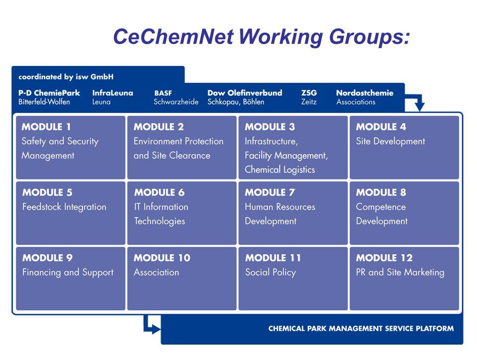 CeChemNet Working Groups: