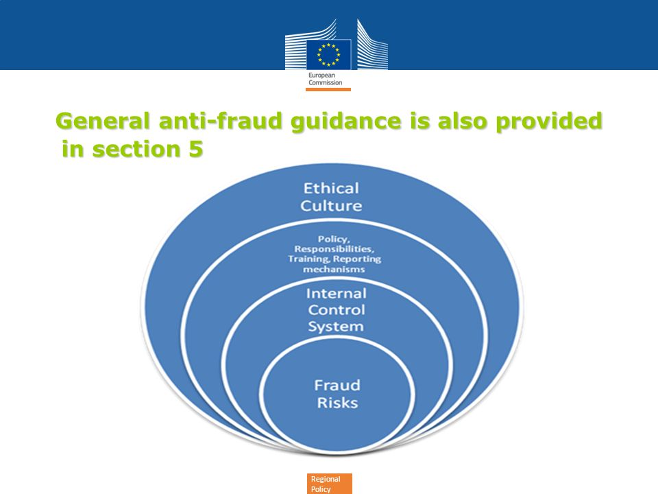General anti-fraud guidance is also provided in section 5