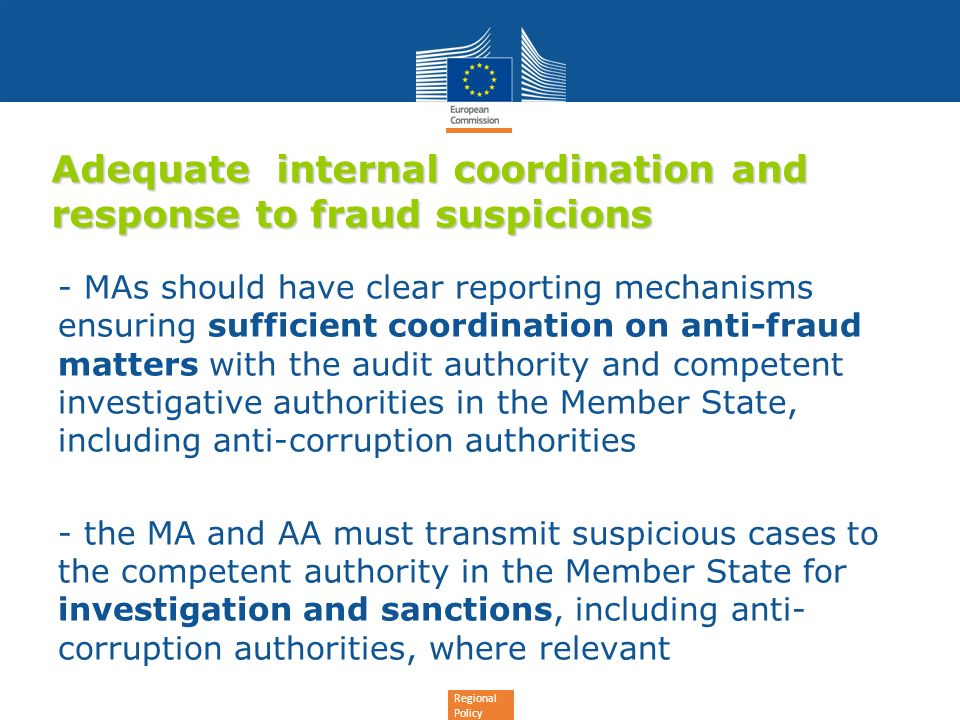 Adequate internal coordination and response to fraud suspicions