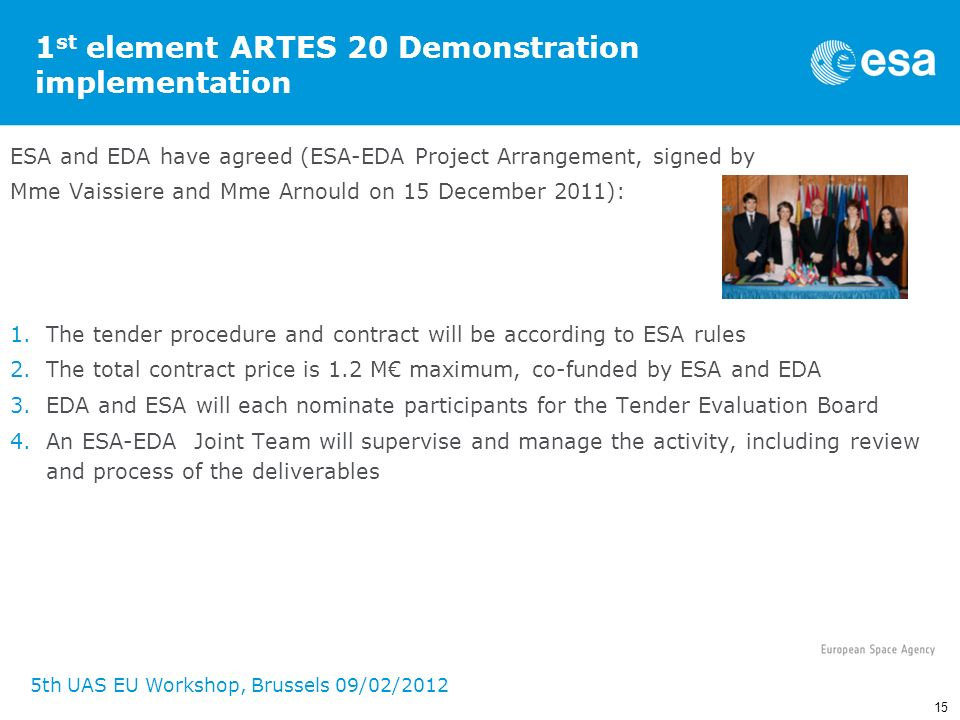 1st element ARTES 20 Demonstration implementation