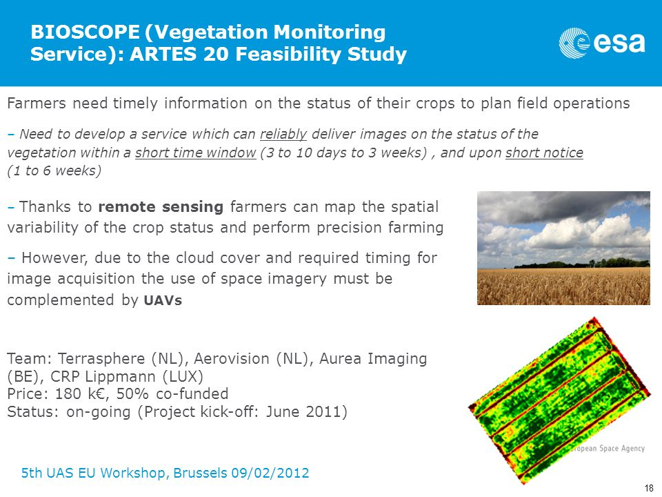 BIOSCOPE (Vegetation Monitoring Service): ARTES 20 Feasibility Study