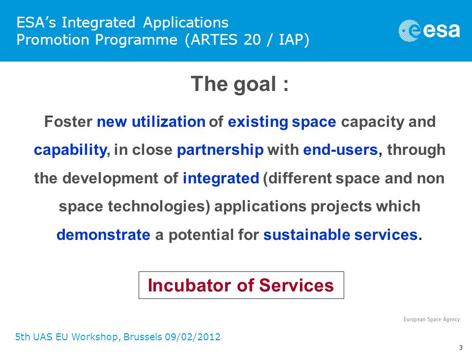 ESA's Integrated Applications Promotion Programme (ARTES 20 / IAP)