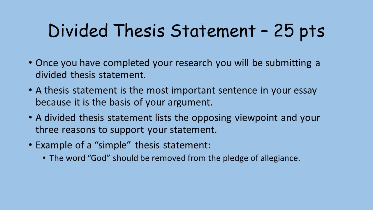 divided thesis statement   parallel structure divided thesis statement