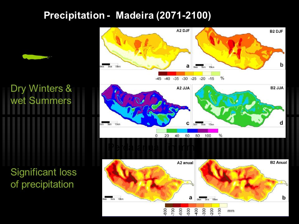 Precipitation - Madeira (2071-2100)