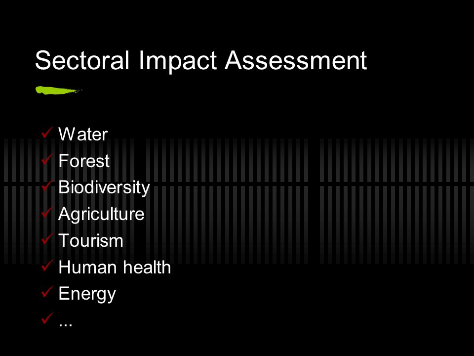 Sectoral Impact Assessment