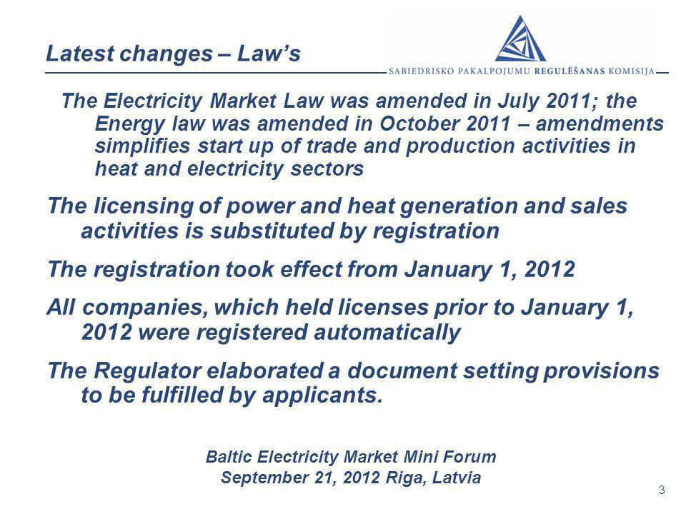 The registration took effect from January 1, 2012