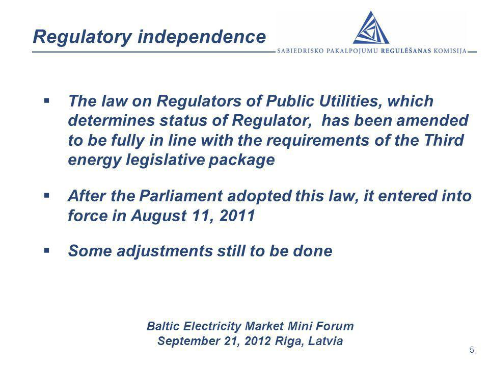 Regulatory independence