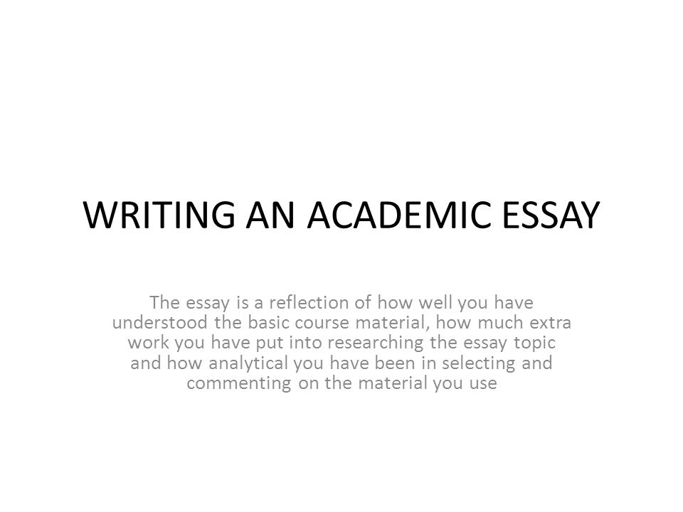 writing an academic essay ppt video online  writing an academic essay