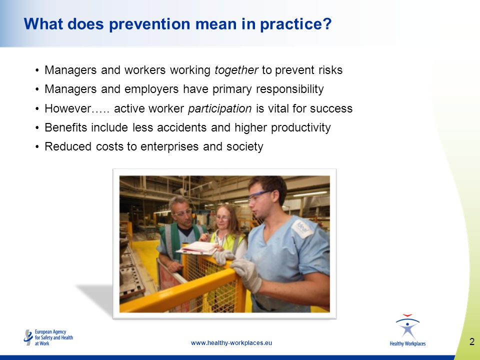 What does prevention mean in practice