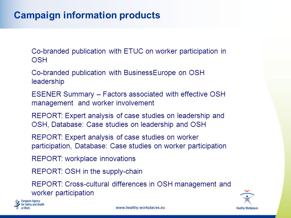 Campaign information products