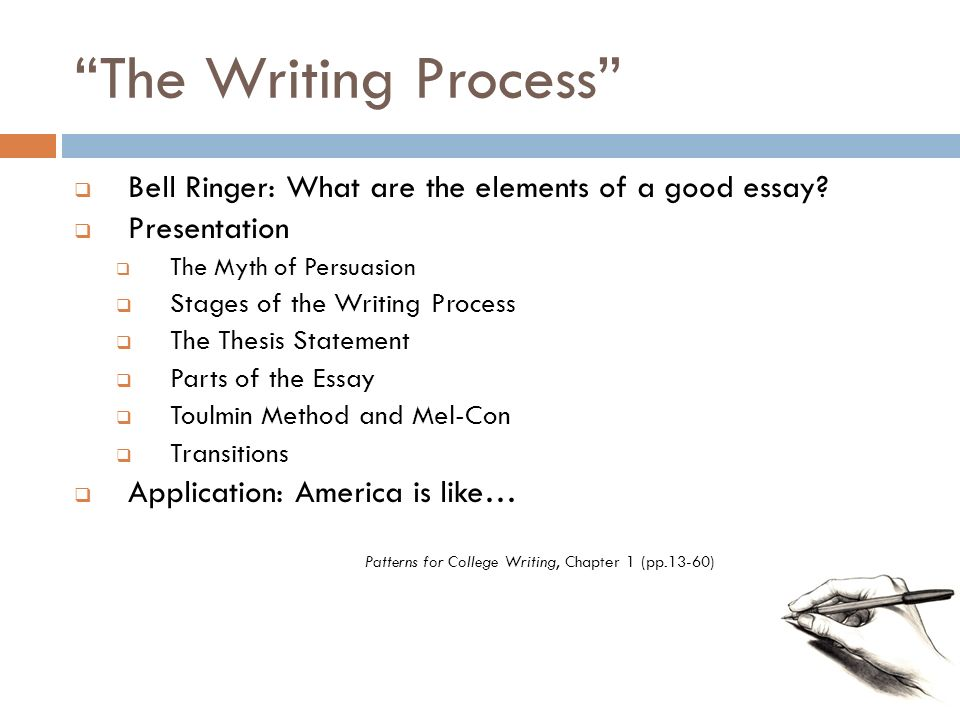 Patterns for College Writing Chapter 40 pp40340 ppt video Simple Patterns For College Writing