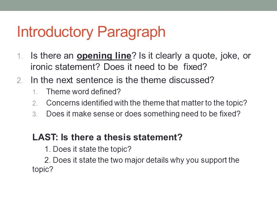Lets Edit And Revise Your Expository Essay  Ppt Video Online   Introductory Paragraph