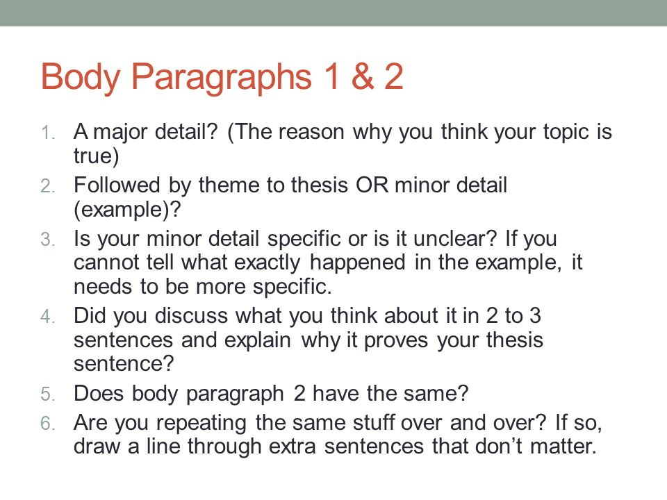 Lets Edit And Revise Your Expository Essay  Ppt Video Online   Body Paragraphs