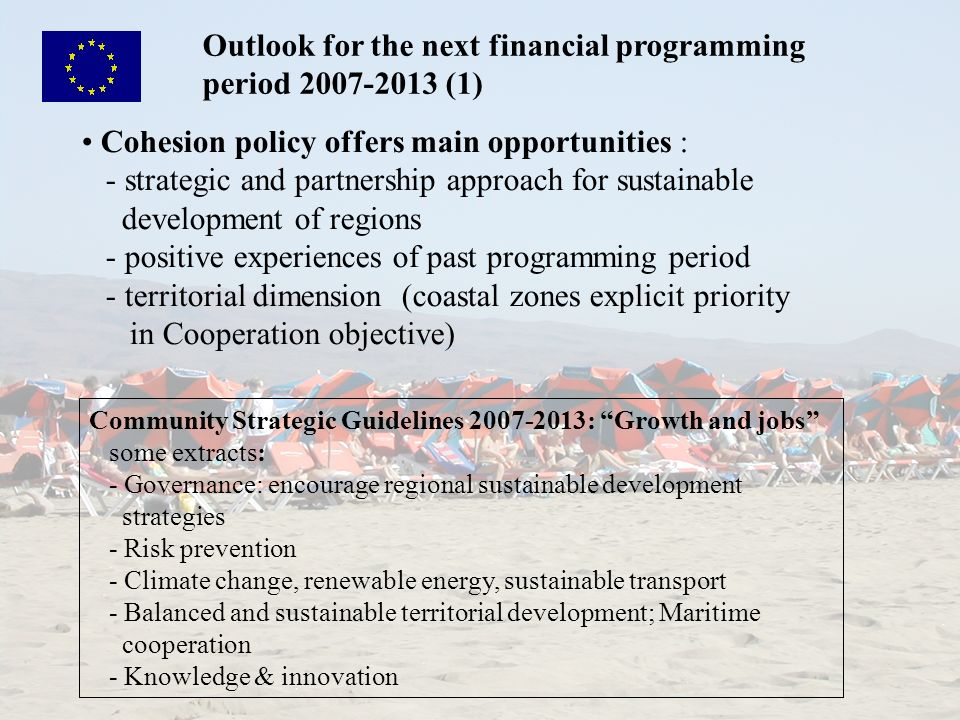 Outlook for the next financial programming period 2007-2013 (1)