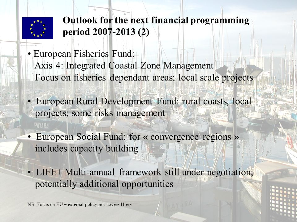 Outlook for the next financial programming period 2007-2013 (2)