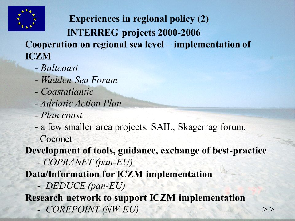 Experiences in regional policy (2)