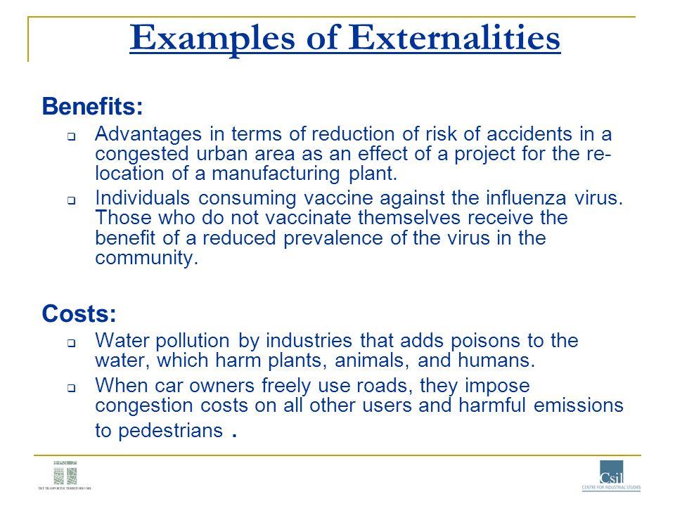 Examples of Externalities