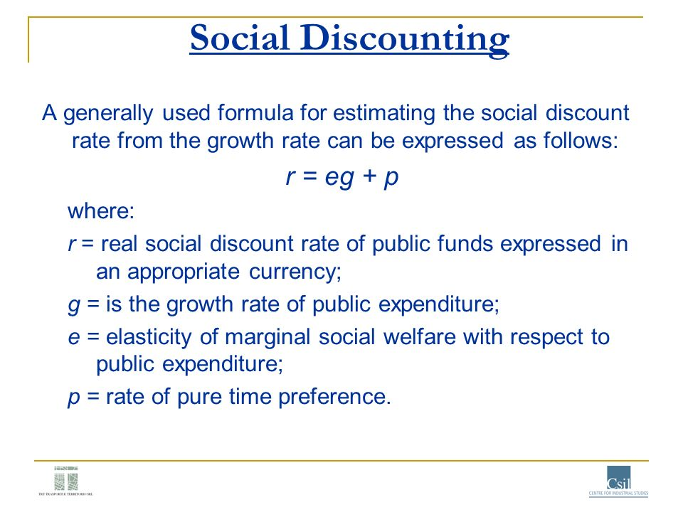 Social Discounting r = eg + p