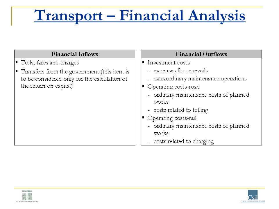 Transport – Financial Analysis
