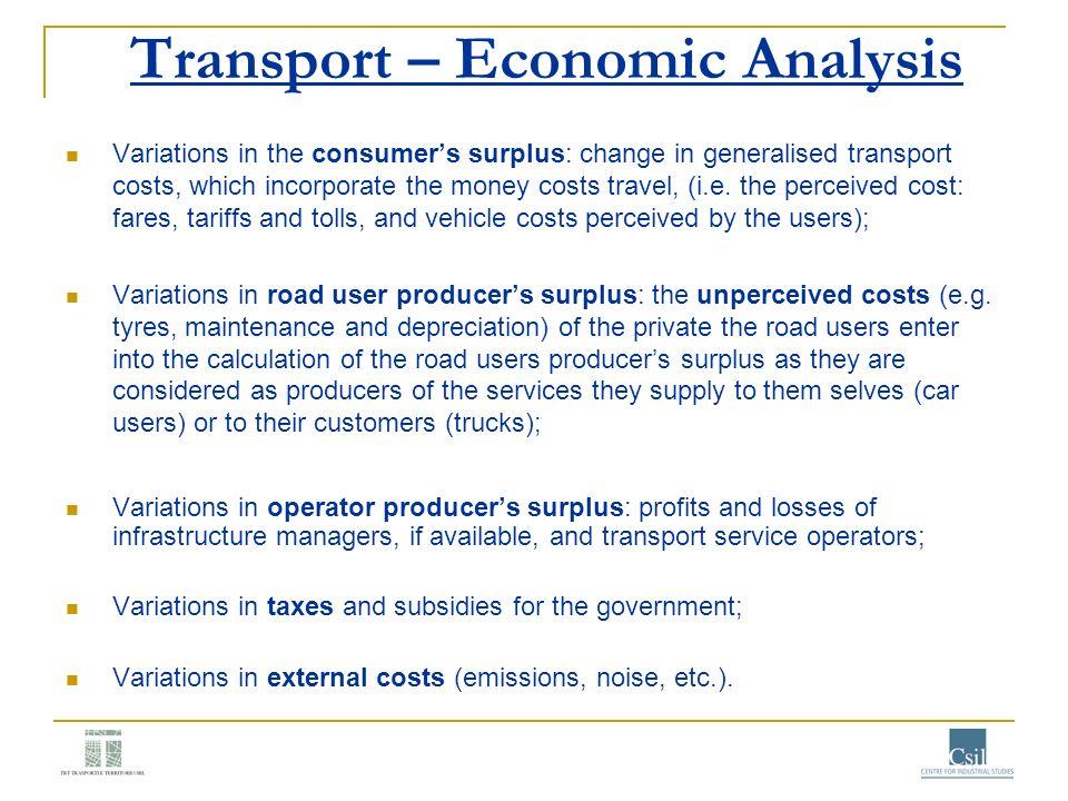 Transport – Economic Analysis