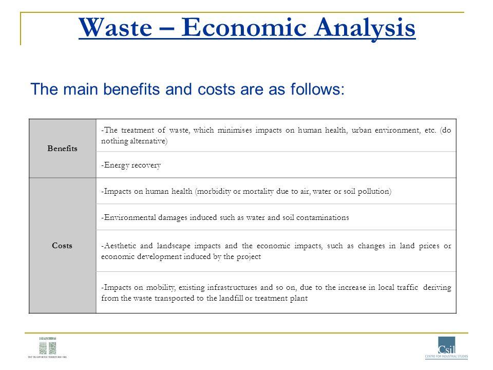 Waste – Economic Analysis