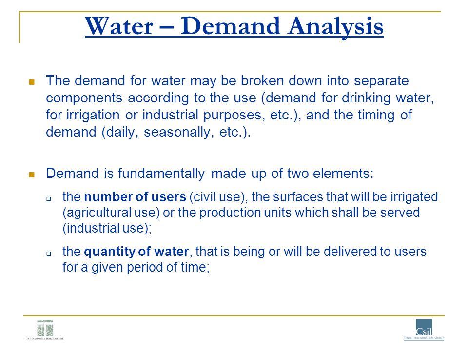 Water – Demand Analysis