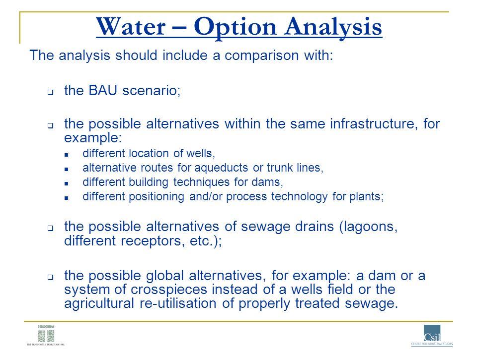 Water – Option Analysis