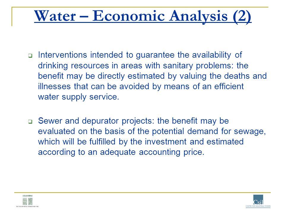 Water – Economic Analysis (2)