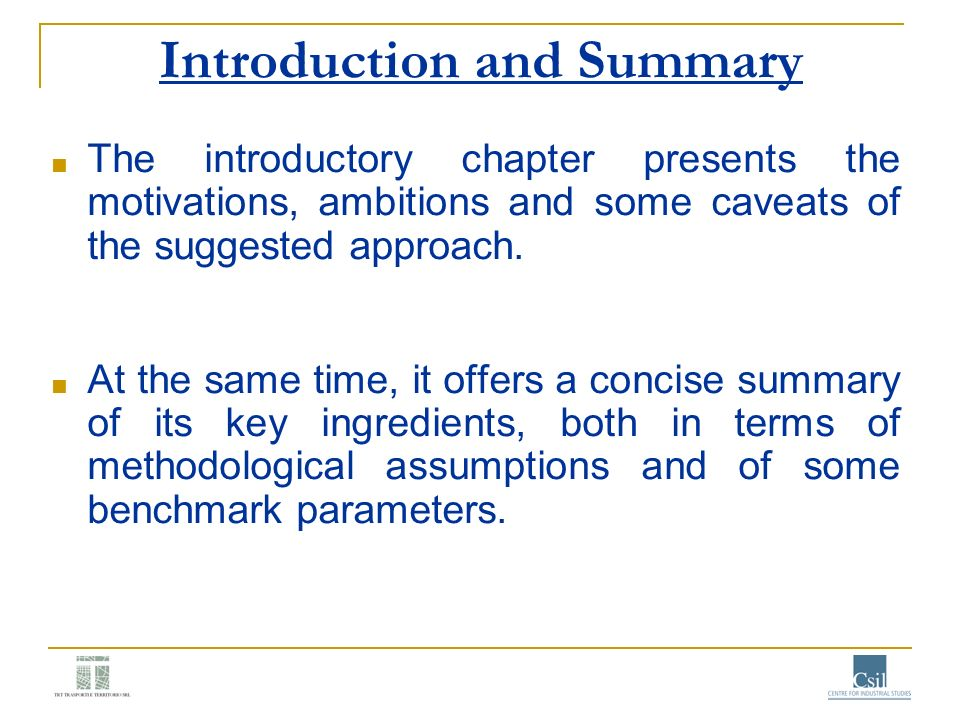 Introduction and Summary